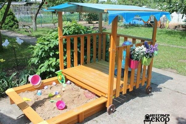 Песочницы. Идеи для дачи и детской площадки 😃 На заметку ☝