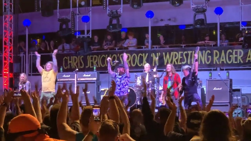 Corey Taylor FOZZY Cover KISS Cold Gin on Chris Jericho Cruise | Metal Injection