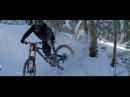 Epic Raw Downhill Mountain Biking on Snow!