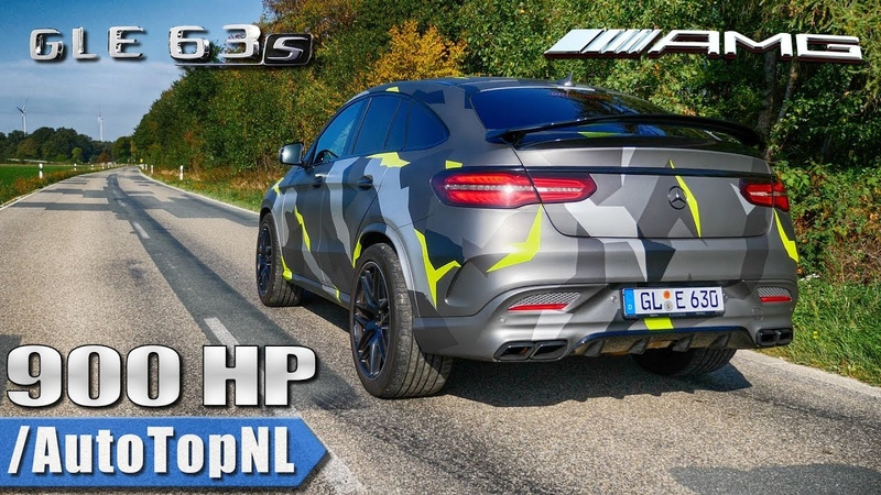 MERCEDES GLE 63 AMG 900HP BRUTAL! SOUNDS 308km/h TOP SPEED Onboard REVS by AutoTopNL