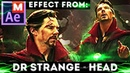 After Effects Show Avengers Infinity Wars - Doctor Strange - Shake Head