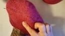 Детская двойная шапочка с цельновывязанными ушками