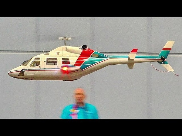AMAZING RC SCALE MODEL ELECTRIC HELICOPTER BELL-222 INDOOR FLIGHT DEMONSTRATION