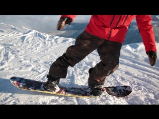 Snowboard Addiction| Buttering - (Goofy) - How To Ride In The Buttering Position Goofy