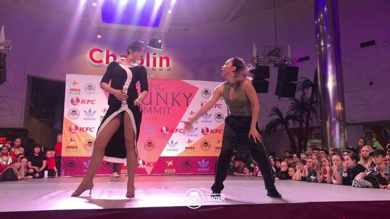 Nadi Pak vs Yevgeniya Gavrish Waacking Prof Final Spring Funky Summit 2018