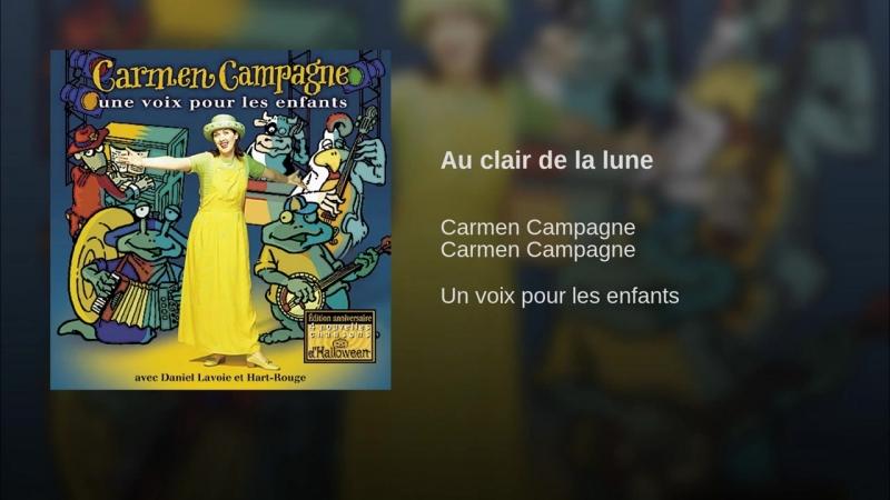 Daniel Lavoie Carmen Campagne Au clair de la lune