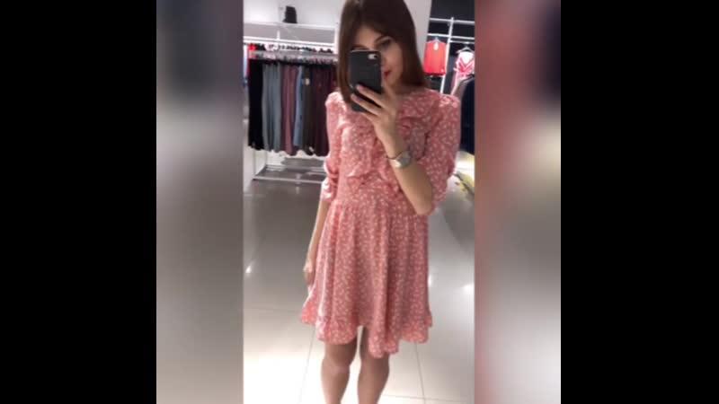 ✨Новая коллекция✨ Легкие весенние платья в различных моделях и расцветках🌸 Платье в розовом цвете в цветок 1690 📍ТЦ Успенский