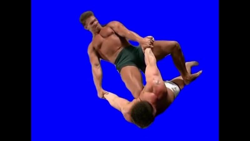 [Gachimuchi] Danny Lee wringing Billys hands on a blue screen (Дэнни Ли заламывает руки Билли на синем экране)