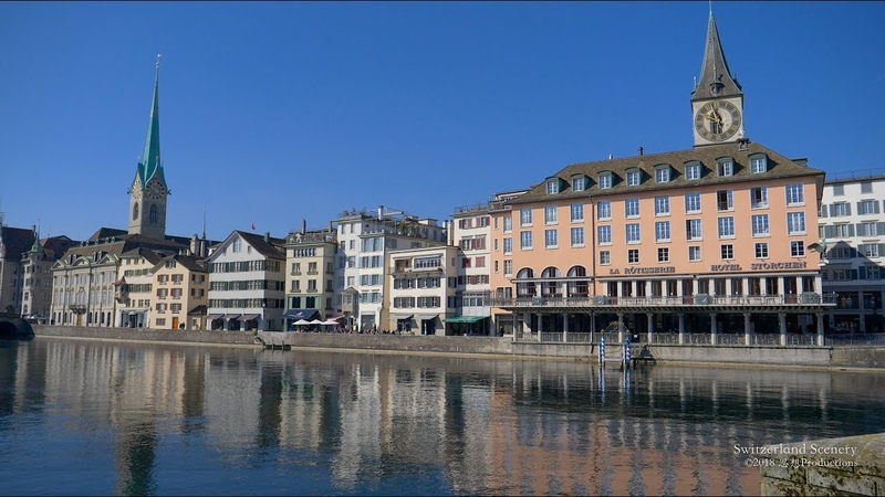 4K Zürich City Moments SWITZERLAND チューリッヒ 苏黎世
