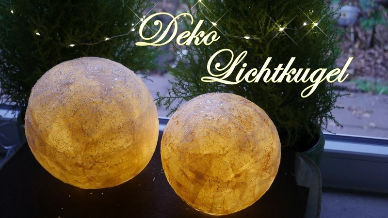 Licht-Kugeln | Deko-Lichter | Leuchtende Kugeln aus Servietten basteln