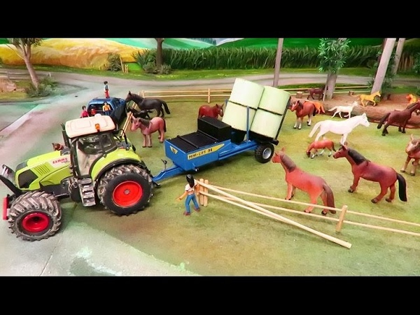 RC TRACTOR FEEDING FARM ANIMALS Rc Toys in Action