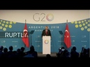 LIVE: Erdogan holds press conference during G20 Buenos Aires Summit