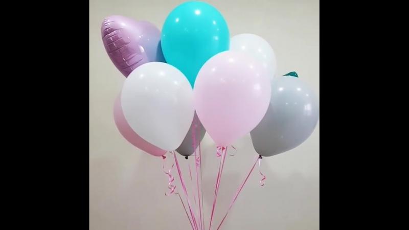Розовые, белые, тиффани, серые латексные и фигурные шарики🤩 рекомендуем сочетание цветов✔ за заказ спасибо и фото @ ekaterinatol