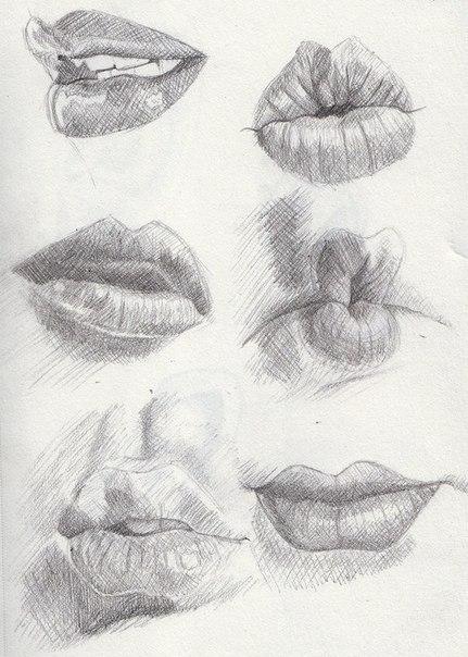 Рисуем губы.