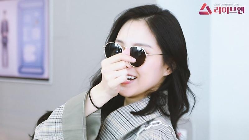 [liveenTV]에이핑크(APINK) 손나은(SONNAEUN), 가을 바람 타고 온 미소 여신 (인천공항)