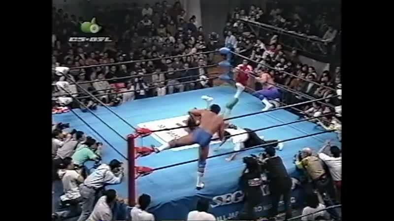 1997.11.15 - Johnny Smith/Wolf Hawkfield vs. Jun Akiyama/Mitsuharu Misawa