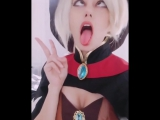 Ahegao Cosplay Mercy Overwatch (hentai)