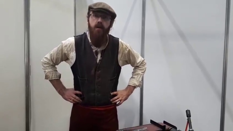 Makers Central 2018 Jim chats to a Blacksmith