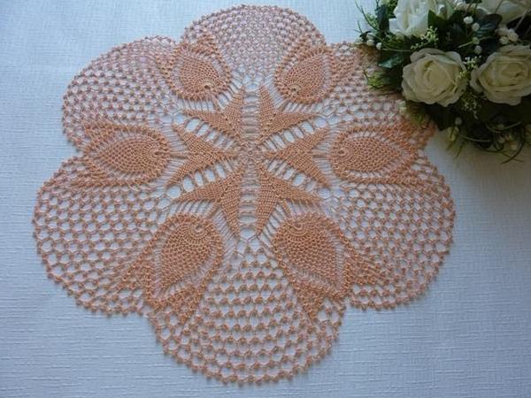 Yatak Odasına Lale Motifli Dantel Örtü YAPILIŞI Crochet Lace Doily Tutorial