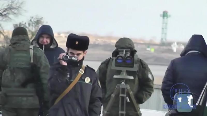 На Чонгаре в 50 м от оккупантов подняли украинский флаг