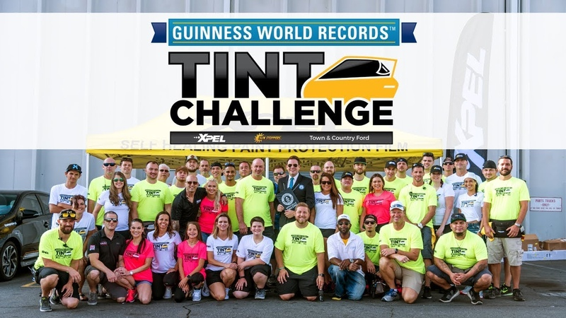 XPEL Guinness World Record Tint Challenge with SunStoppers