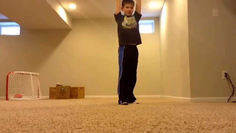 Kid farts while dropping ten pound ball on foot