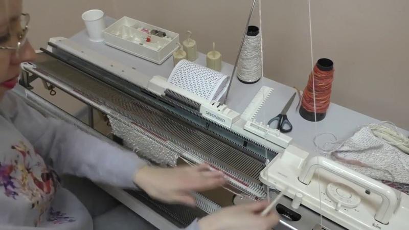 Вивинговое переплетение или футерованный ткацкий узор на вязальной машине Silver Reed SK280 SRP60N