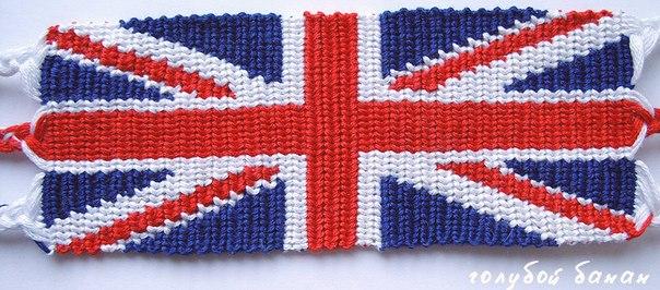 """фенечка """"британский флаг"""""""
