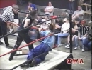 My1 2003 04 18 JC Bailey vs Spyder Nate Webb with Lollipop Barbed Wire light tubes tables ladders and chairs match
