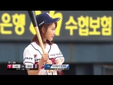 sakura trying as first bat for the doosan bears and lg twins baseball match at jamsil baseball stadium