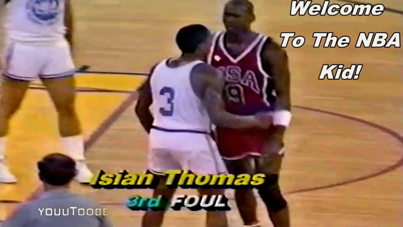 Isiah Thomas Trying to Block Michael Jordan in Their 1st Meeting Then Amazing Happens!
