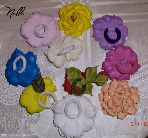 Цветы из фома своими руками фото