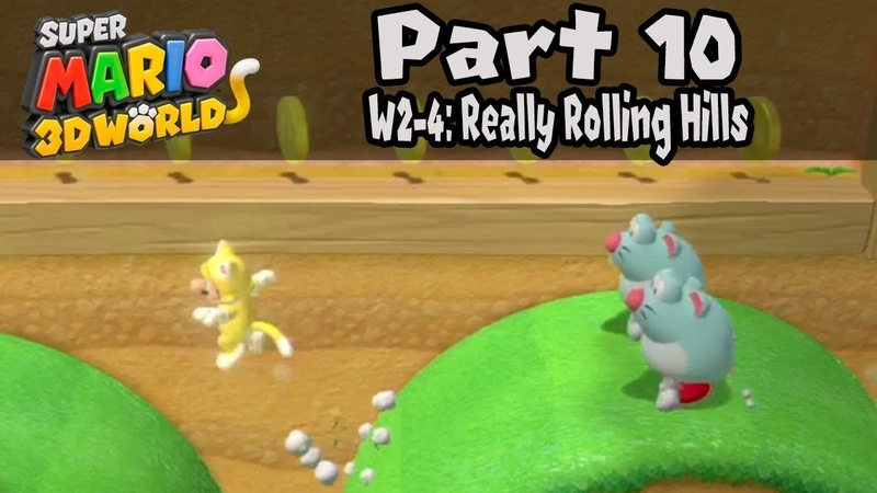 Super Mario 3D World 2-4 Крутящиеся холмы Really Rolling Hills