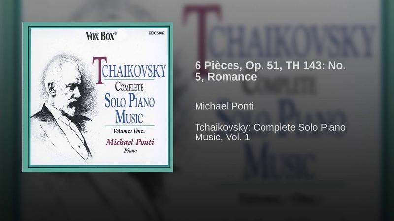 6 Pièces, Op. 51, TH 143: No. 5, Romance