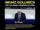 Quand Bruno Gollnisch se lâche au Parlement européen sur l'utilisation d'armes chimiques en Syrie.