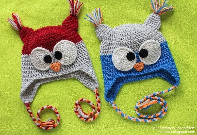 Voyaelectrics Шапки-совы от дизайнера вязаной одежды Helen Rdel.