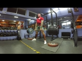 Deadlift from the plate 280kg617lb 2 reps 4 sets on video two last sets With support Bear gear