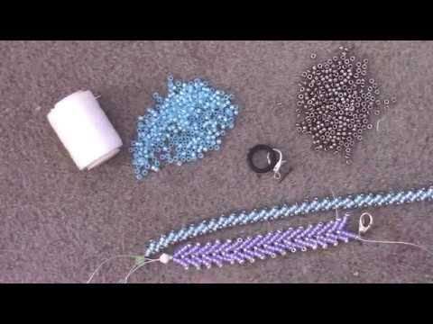 Learn the Basics of the Double St Petersburg Stitch - A Beading Tutorial by Aura Crystals