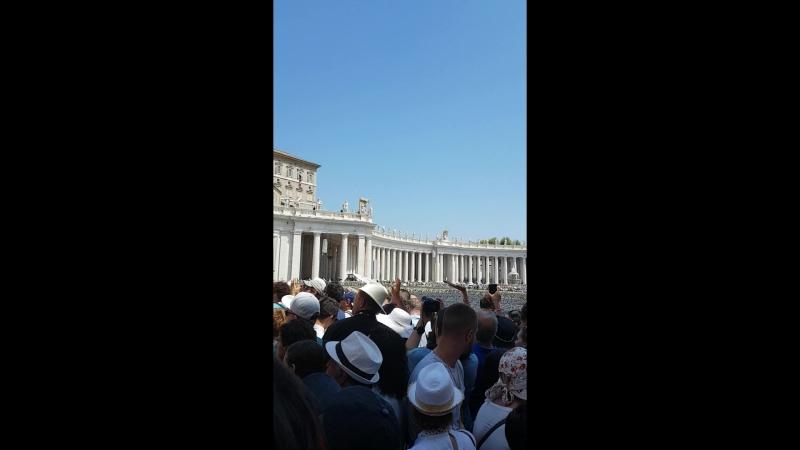 Ватикан. Выступление Папы