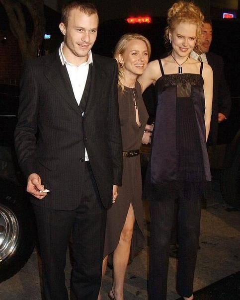 Наоми Уоттс, Хит Леджер и Николь Кидман на премьере фильма Звонок в октябре 2002 года. Наоми и Хит встречались в то