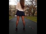 Школьница в мини и колготках (stocking pantyhose feet foot fetish фут teen малолетка фетиш колготки)