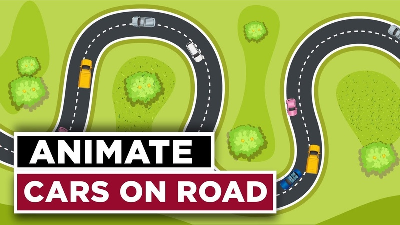 Animate Cars on Road Along a Custom Path - After Effects CC 2018 Tutorial