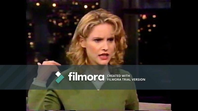 Jennifer Jason Leigh on David Letterman Show 1997