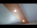 Разделение помещения на зоны двухуровневым потолком