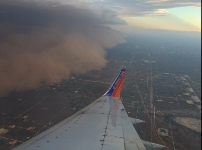 sandstorm, big spring, texas, plane, picture