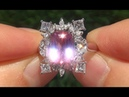 GIA Certified VS Natural Pink Sapphire Diamond 14k Gold Engagement Cocktail Ring C532