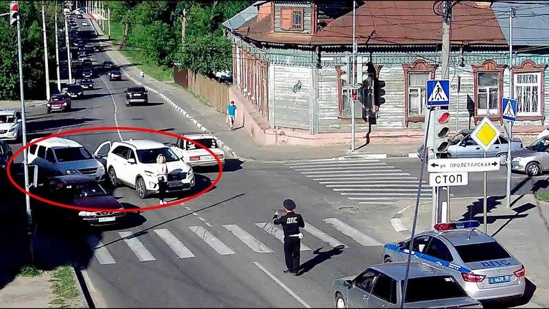 ДТП в Серпухове Пытался объехать пробку 25 мая 2018г