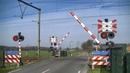 Spoorwegovergang Woudenberg Dutch railroad crossing