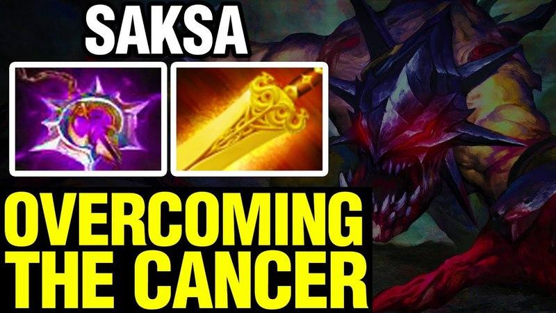 OVERCOMING THE CANCER - Saksa Plays Lifestealer - Dota 2