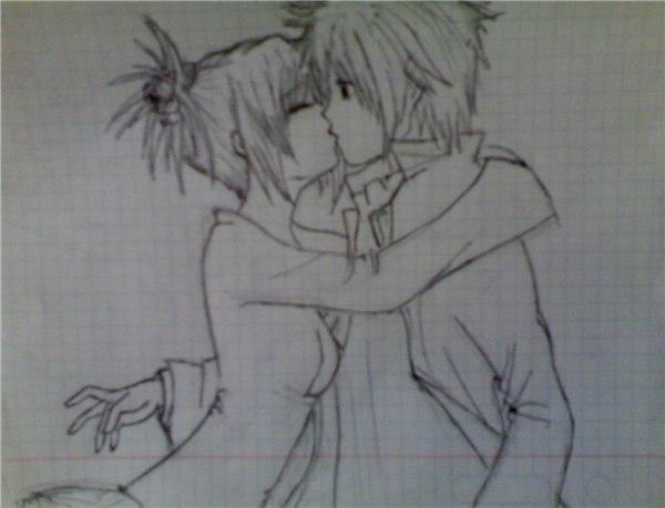картинки аниме про любовь карандашом: